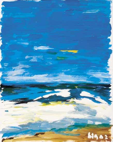 Meer mit blauem Himmel