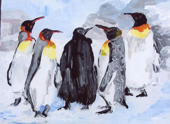 Beratung der Pinguine