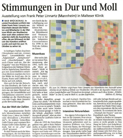 Saale Zeitung vom 08.08.2009