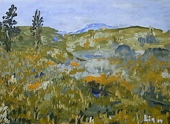 Schottische Landschaft (bei Loch Ness)